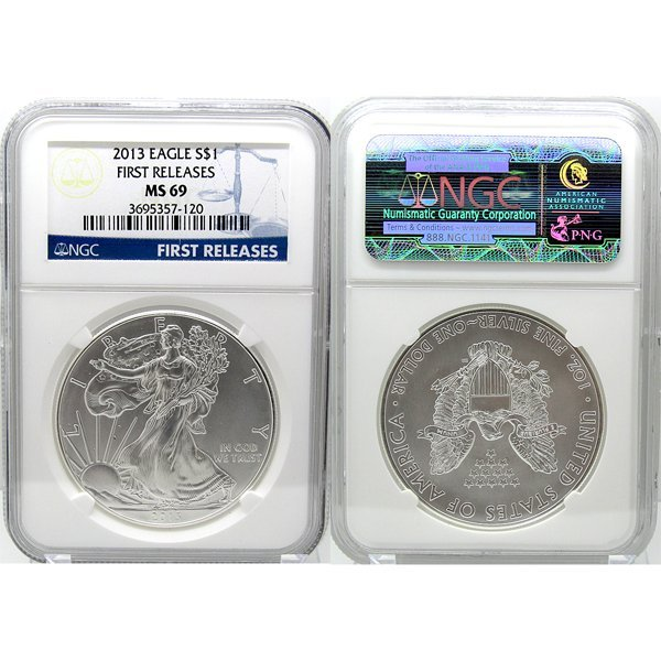 2013 Eagle First Releases MS69 NGC - Blue Label