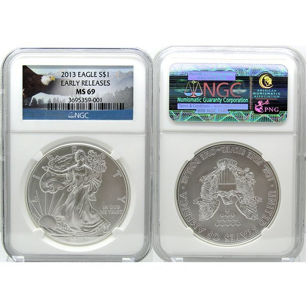 2013 Eagle Early Releases MS69 NGC - Eagle Label