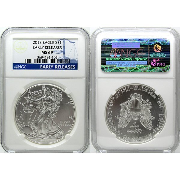 2013 Eagle Early Releases MS69 NGC - Blue Label