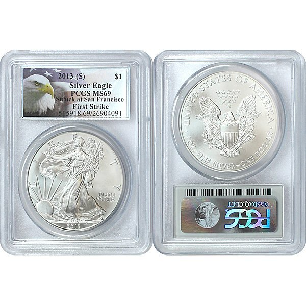 2013-(S) Eagle First Strike MS69 PCGS - Eagle Label