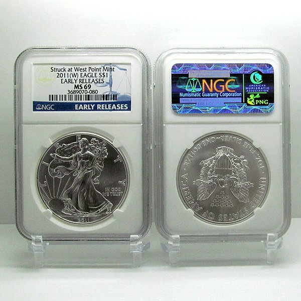 2011-(W) Eagle Early Release MS69 NGC Blue Label