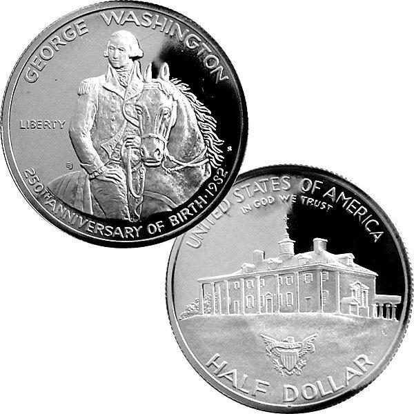1982-S Silver Proof Washington 250th Ann Half Dollar