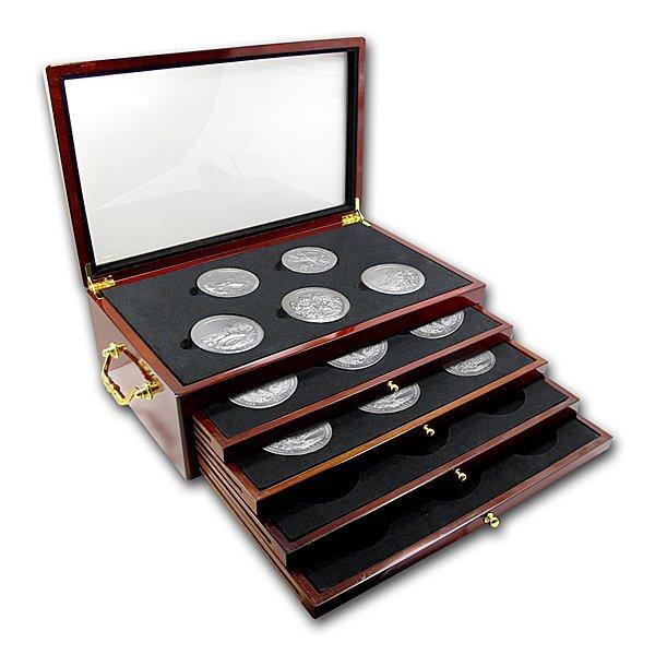 2010 - 2012 5 oz Silver ATB 15-Coin Set in Box