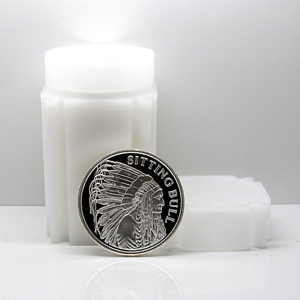 (20) Sitting Bull Indian Chief .999 Fine Silver Rounds