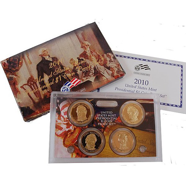 2010-S Proof Presidential Dollars 4-Coin Set