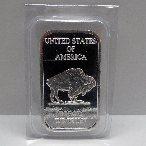 1 Oz Buffalo Design .999 Fine Silver Bar