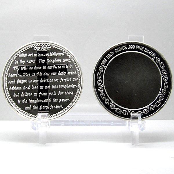 1 Oz Lords Prayer Design .999 Fine Silver Round