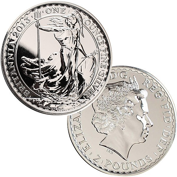 2013 1 Oz UK Silver Britannia - Uncirculated