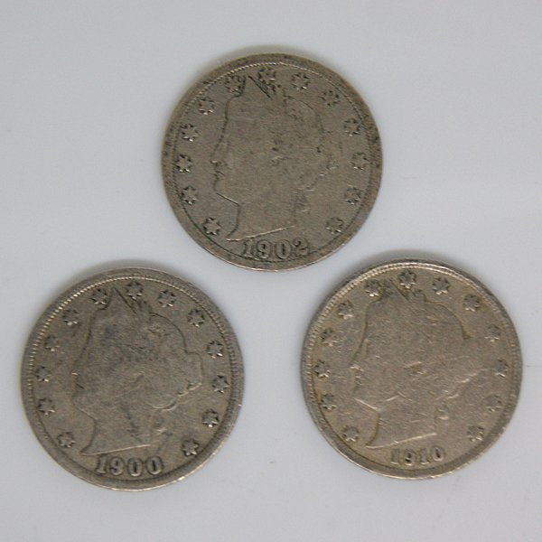 3-Coin Set Liberty Head V Nickel - Full Date