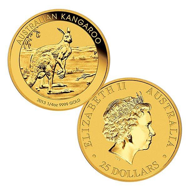 1/4 Oz Australian Kangaroo .9999 Gold Coin -
