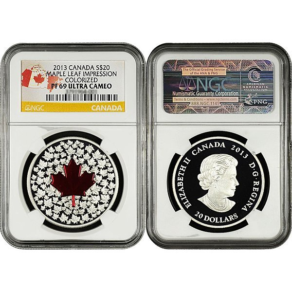 2013 Silver Maple Leaf Impression PF69 NGC - Country
