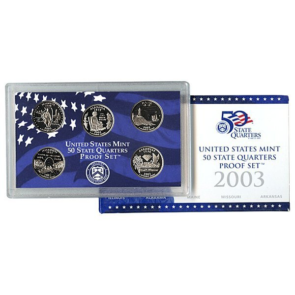 2003-S United States Quarter 5-Coin Proof Set