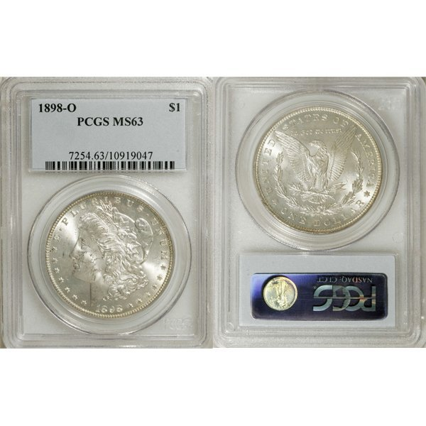 1898-O $1 Morgan Silver Dollar MS63 PCGS
