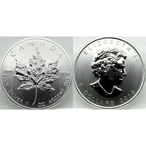 1 Oz Canadian Silver Maple Leaf - Brilliant