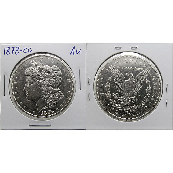 1878-CC $1 Morgan Dollar - Almost Uncirculated