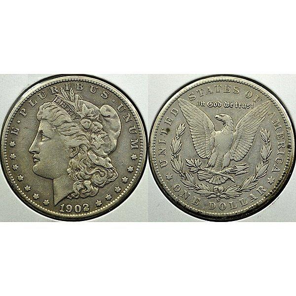 1902-S Morgan Silver Dollar - Extra Fine