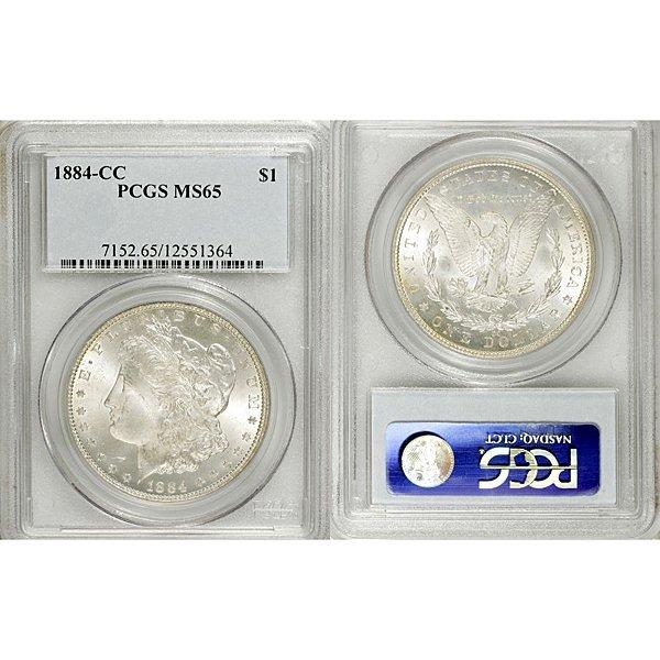1884-CC Morgan Silver Dollar MS65 PCGS