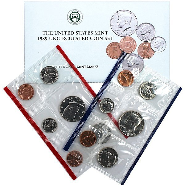 1989-D & P United States Mint Coin Set