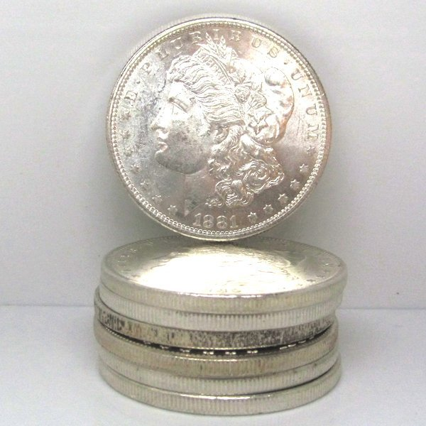Pre 1921 Morgan Silver Dollars - BU - Set of 7