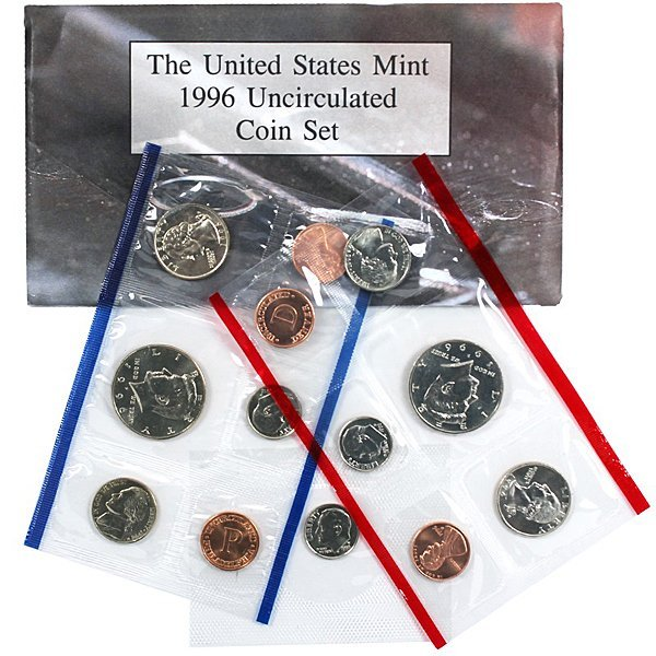 1996-D & P United States Mint Coin Set with W dime