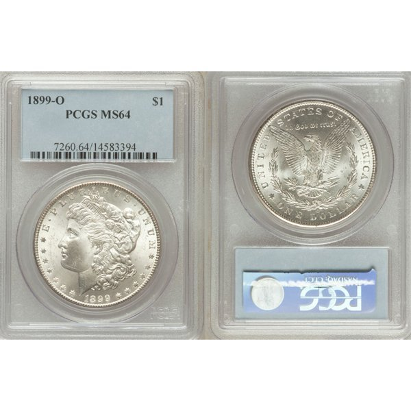 1899-O $1 Morgan Silver Dollar MS64 PCGS