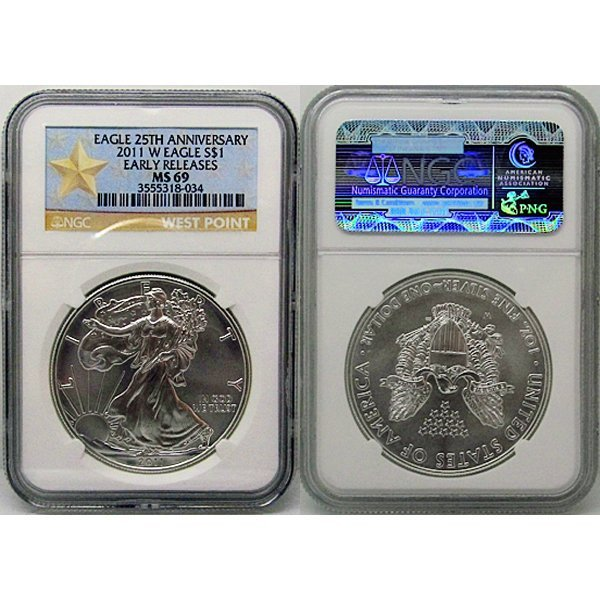 2011-W Eagle 25th Ann MS69 NGC - Star Label