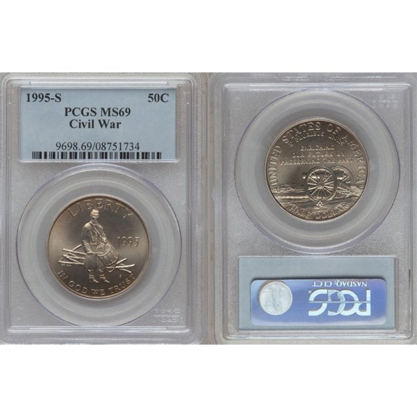 1995-S Civil War Half Dollar MS69 PCGS
