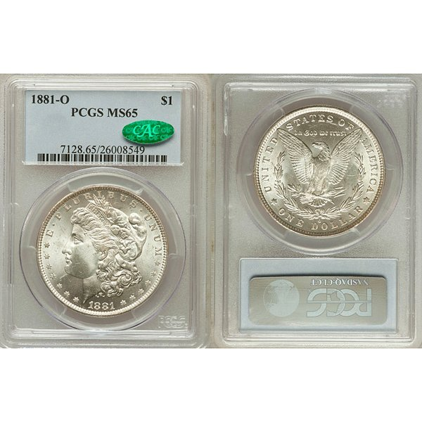 1881-O Morgan Silver Dollar MS65 PCGS - CAC