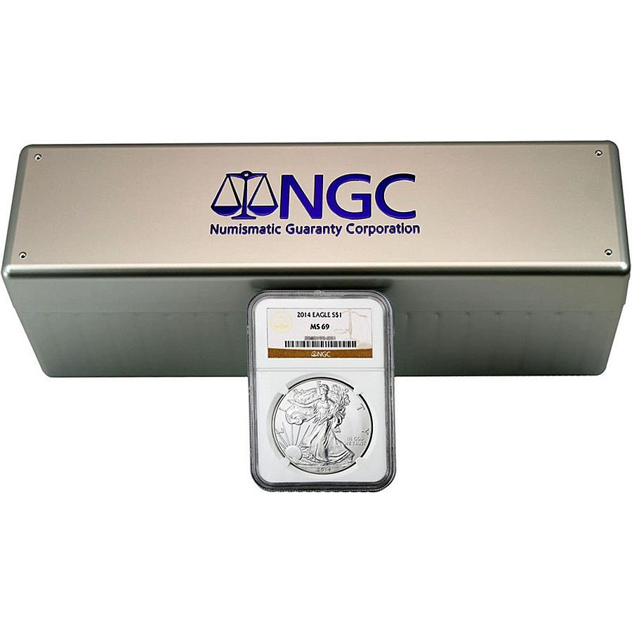 20x 2014 Silver Eagle MS69 NGC - Brown Label