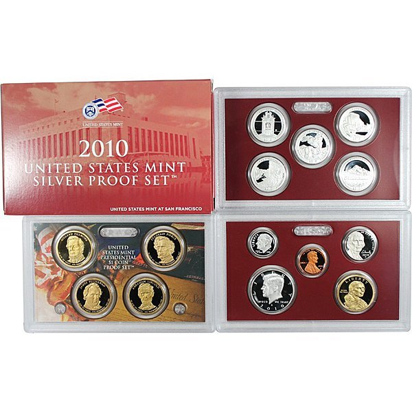 2010-S Proof Silver 14-Coin Set