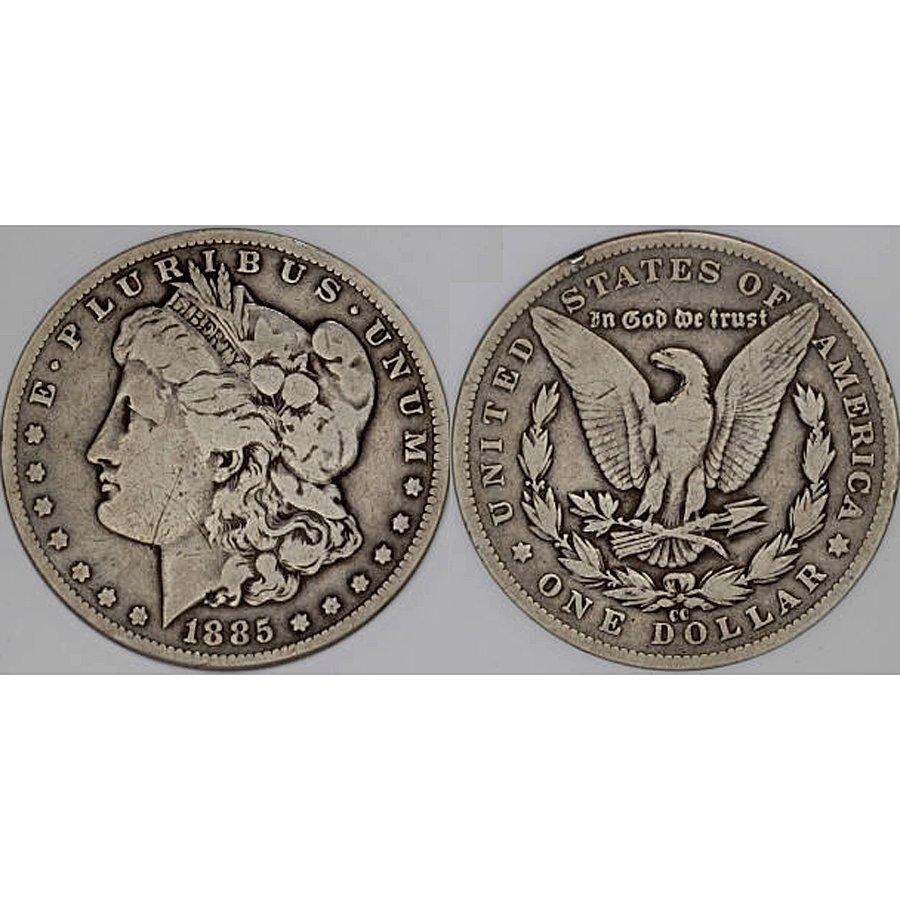 1885-CC $1 Morgan Silver Dollar - Very Good
