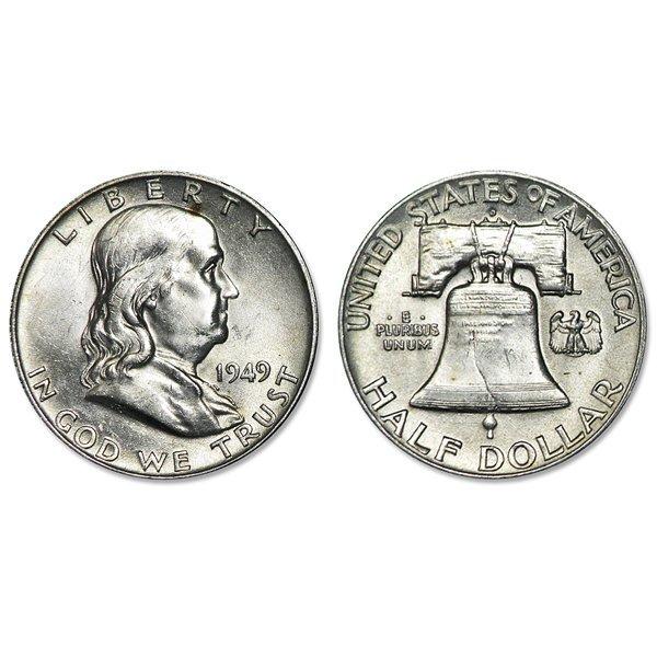 1949-D Franklin Silver Half Dollar - Uncirculated