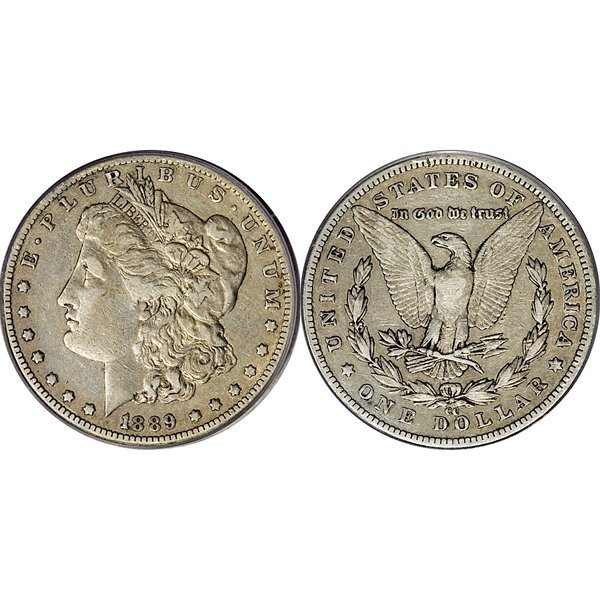 1889-CC $1 Morgan Silver Dollar - Very Fine