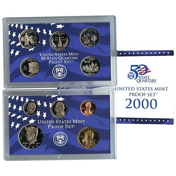 2000-S US Mint 10-Coin Clad Proof Set