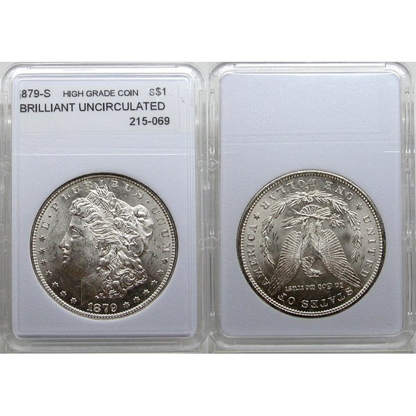 1879-S Morgan Silver Dollar - Brilliant Uncirculated