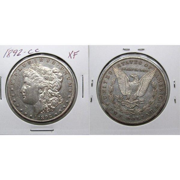 1892-CC $1 Morgan Silver Dollar - Extra Fine