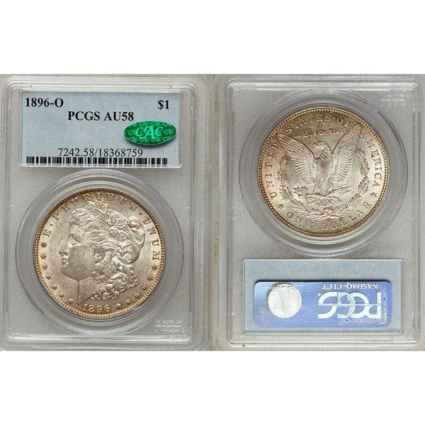 1896-O Morgan Silver Dollar AU58 PCGS - CAC