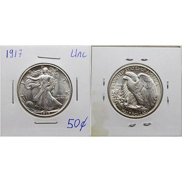 1917 Walking Liberty Silver Half Dollar - Uncirculated