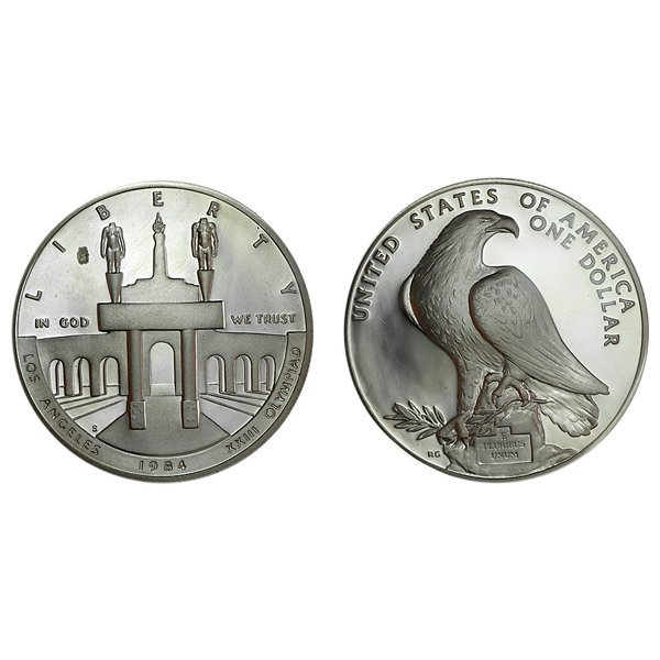 1984-S Olympic Silver Dollar - Uncirculated