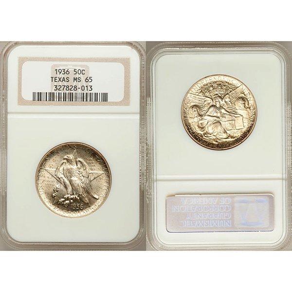 1936 Texas Silver Half Dollar MS65 NGC