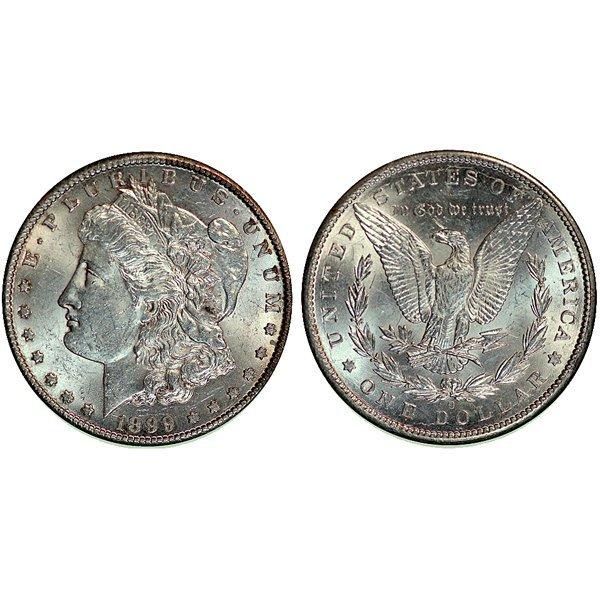 1899-O Morgan Silver Dollar - Almost Uncirculated