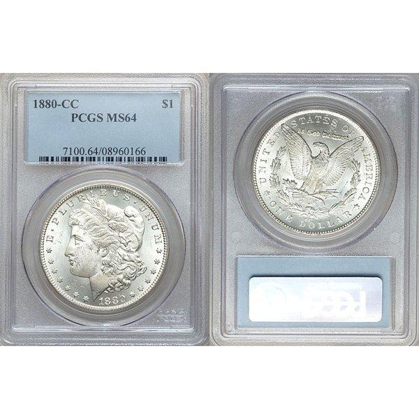 1880-CC $1 Morgan Silver Dollar MS64 PCGS