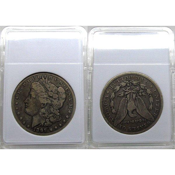 1891-CC $1 Morgan Silver Dollar - Fine