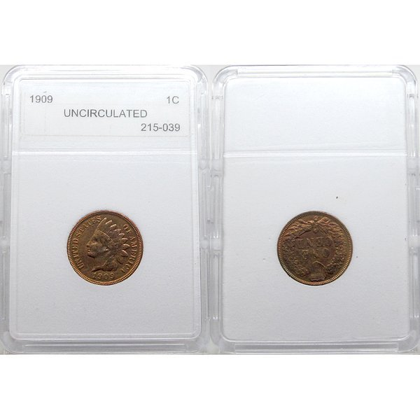 1909 Indian Head Cent - MS-60 BN