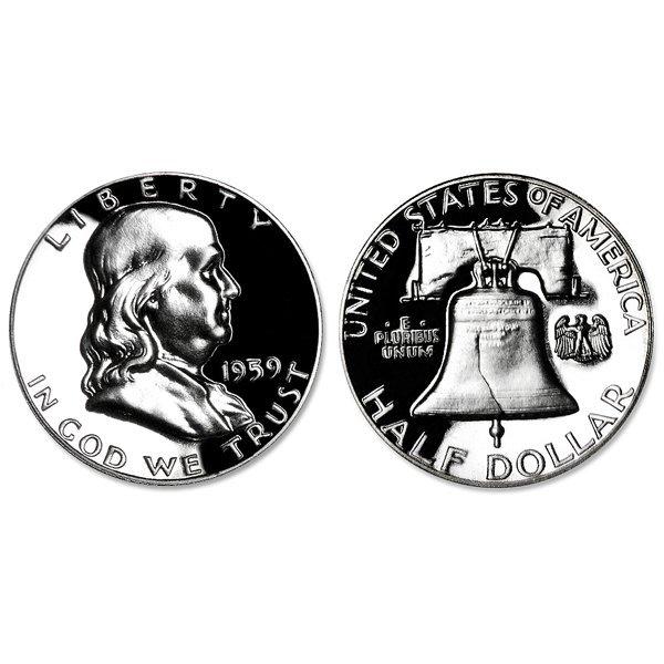1959 Franklin Silver Half Dollar Proof