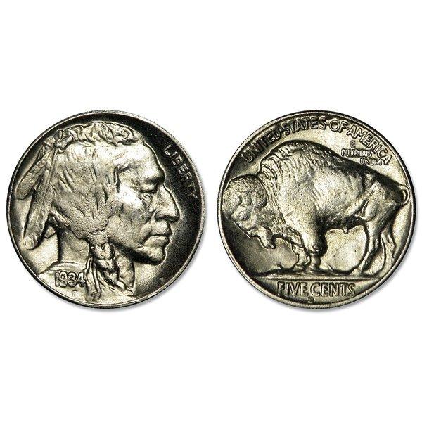 1934 Buffalo Nickel - Brilliant Uncirculated