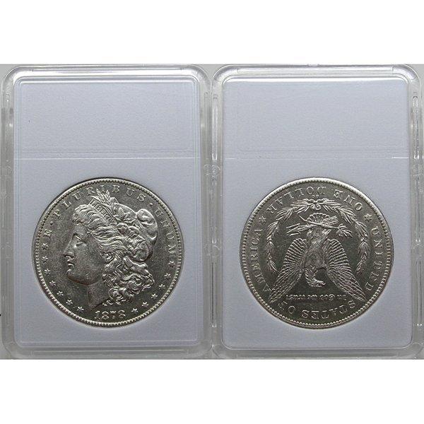1878-CC $1 Morgan Silver Dollar - Almost Uncirculated