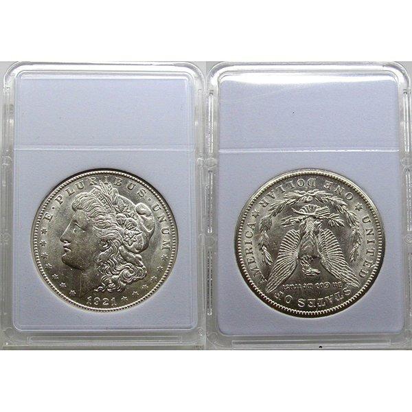 1921-S Morgan Silver Dollar - Almost Uncirculated