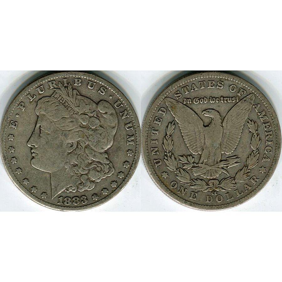 1883-CC $1 Morgan Silver Dollar - Very Good
