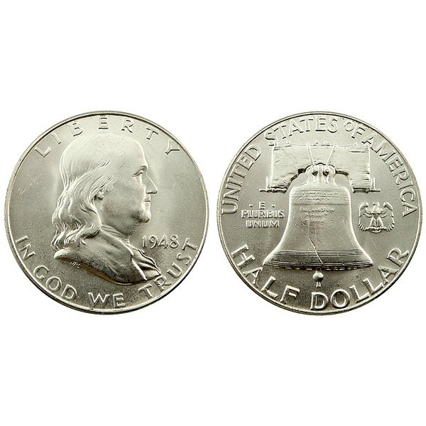 1948 Franklin Silver Half Dollar - Uncirculated